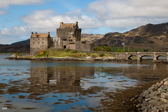 Eilean Donan Castle (AllTheGoodIDsAreTaken) Tags: uk mountains reflection castle water scotland eilean donan