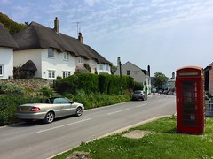 Lulworth (Marc Sayce) Tags: purbeck british english box phone red cottage thatched dorset west cove lulworth