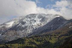 goodbye winter (crazyhorse_mk) Tags: winter sky mountain snow nature clouds forest germany landscape spring summit goodbye schwarzwald blackforest belchen muenstertal