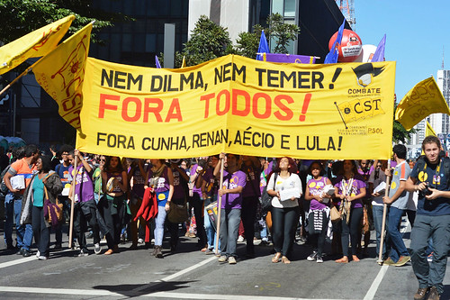 1º de Maio na Paulista   Nem Dilma, Nem Temer! Fora todos!