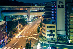 At the edge of the night (Arutemu) Tags: street city japan night canon asian japanese asia cityscape view nightscape nightshot ciudad nighttime citylights  nightview yokohama  japonesa japon  japones ville  nightstreet japonais            japonaise  sengencho