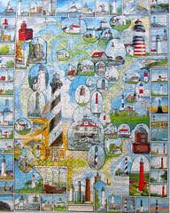 American Lighthouses (pefkosmad) Tags: hobby puzzle leisure jigsaw madeinusa pastime 1000pieces americanlighthouses whitemountainpuzzlesinc extralargepieces