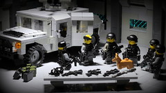 Mission Briefing (Brick Police) Tags: lego military minifig blackwater humvee blackops specops brickarms