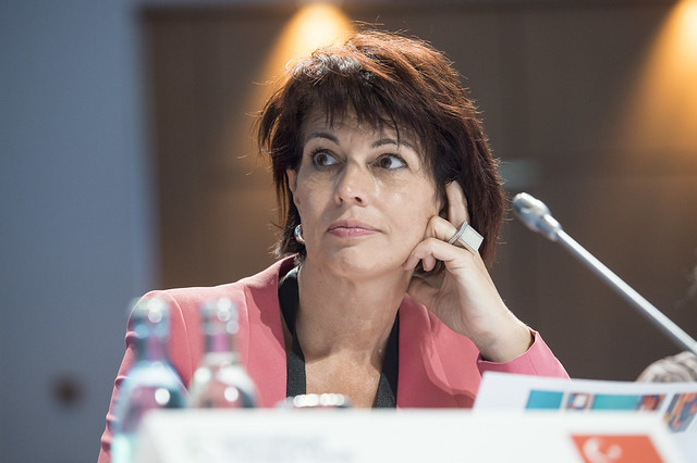 Doris Leuthard at the Closed Ministerial Session