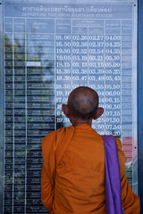 l'coute (Fanchec) Tags: asia buddhism thailande ayutthaya moine
