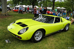 1967 Lamborghini Miura P400 SV [EXPLORED] (Rivitography) Tags: old green classic car canon vintage rebel automobile antique connecticut greenwich exotic adobe 1967 lime t3 lamborghini supercar sv lightroom miura 2015 p400 rivitography