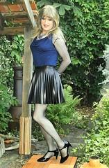 Pre Disco (Amber :-)) Tags: black mini skirt crossdressing tgirl transvestite sunray pu pleated