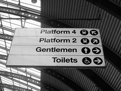 Facilities (the Magnificent Octopus) Tags: york station sign design br rail signage british alphabet