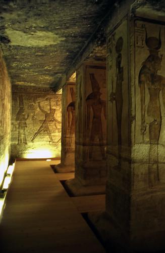 "Ägypten 1999 (112) Im Kleinen Tempel von Abu Simbel • <a style=""font-size:0.8em;"" href=""http://www.flickr.com/photos/69570948@N04/27173609550/"" target=""_blank"">View on Flickr</a>"