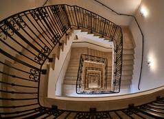 [Explore #60] Grand Stairs (Froschknig Photos) Tags: stairs hotel grand fisheye treppe explore ostsee 6000 treppenhaus 2016 heiligendamm fischauge grandstairs a6000 grandhotelheiligendamm sel16f28 vclecf1 sonyalpha6000 ilce6000