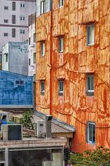 Ho Chi Minh City, Vietnam (Bolin27) Tags: street city travel blue orange abstract building wall asia vietnam chi ho minh saigon