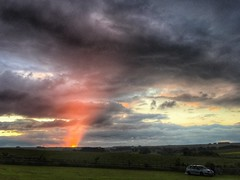 176/366 Sunset at Knotlow Farm Campsite, Derbyshire (scott.simpson99) Tags: campsite sunset clouds parkhousehill derbyshire iphone6 square 366 camping chromehill peakdistrict
