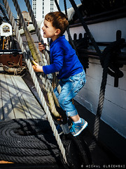 HMS Warrior (Adam 3y 7m old) (Micha Olszewski) Tags: family england people europe unitedkingdom hampshire land portsmouth frigate portsmouthdockyard hmswarrior prezes shipoftheline navalwarfare adamolszewski armouredfrigate