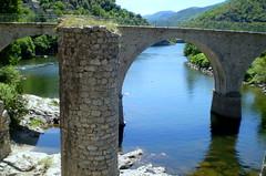 Stone Bridge (janalauri) Tags: bridge summer holiday france nature water river rocks stream wasser sommer brcke fluss sule steinbrcke