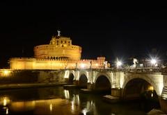 Castel Sant' Angelo (Mattia_EFA) Tags: longexposure italy rome roma night nikon italia nightshot brigde eternalcity nikkor18105vr nikond7100