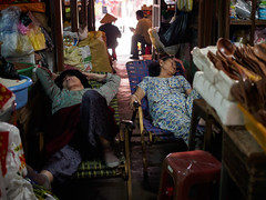 afternoon nap (grapfapan) Tags: street travel people market sleep vietnam hoian