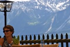 Stranger in a restaurant (martinbennett460) Tags: woman alps switzerland nikon pretty bokeh altitude backdrop leukerbad d5500 bodmen