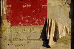 Peeling Off the Years (David Guidas) Tags: old red abstract color building texture lines ruins warm peeling paint warmth faded worn fujifilm draped xt10 xf55200