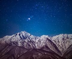 Winter night sky of the Northern Alps (shinichiro*) Tags:    jp 20160104ds22742 2016 crazyshin nikond4s planart1485zf   january winter   kashimayari