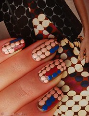 MARNI at H&M inspired nails (BrilliantNail) Tags: hm marni marniathm marnihm dotsnailart