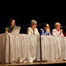 Panelists respond to conference themes in a Saturday evening discussion.