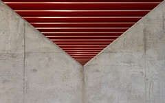 Under the bridge (Edwin van Nuil Photography) Tags: bridge red abstract geometry pillar photowalk brug rood zwolle overijssel beton geocity exif:iso_speed=125 exif:make=sony camera:make=sony exif:focal_length=88mm geostate geocountrys exif:aperture=56 nex7 hanzeboog sonynex7 camera:model=nex7 exif:model=nex7 exif:lens=e18200mmf3563oss sonye18200mmf3563oss
