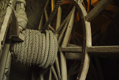 Wheel (Martin Lopatka) Tags: wood old france wheel turn construction gray machine rope fray normandie normandy wodden