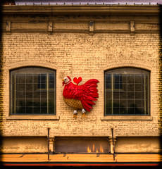 The Little Red Hen ( ian) Tags: building architecture spring mainstreet texas exterior unitedstates tx sliding hdr 2012 mckinney lightroom 3xp littleredhen photomatix canonef50mmf18ii tonemapped 2ev tthdr realistichdr detailsenhancer 75069 canoneos7d ianaberle artsinbloom 105eastvirginiastreet geo:lat=33197999 geo:lon=96615569