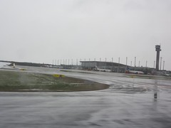 Oslo Airport, Gardermoen (OSL), Norway looking towards terminal building and control tower (iainh124a) Tags: snow norway lumix norge panasonic tz7 dmczs3 iainh124a dmctz7 zs3