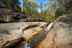 woolshed-falls-3624-ps-w (pw-pix) Tags: trees sky water rock waterfall rocks australia victoria falls granite woolshedfalls northeasternvictoria nearbeechworth woolshedvalley