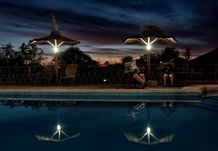 Familia digital - Digital family (celta4) Tags: sunset people water pool lights luces agua gente piscina ocaso entrerios colon