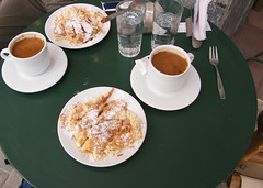 Heraklion, Crete, Greece (east med wanderer) Tags: coffee kreta greece crete venetian heraklion iraklio iraklion kriti  morosinifountain lionsfountain bougatsa