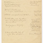 Handwritten list of grievances against Virginia Flanagan and the names of the complainants thumbnail