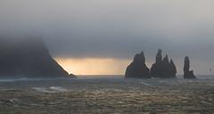 Moody Earth (Dani℮l) Tags: ocean beach birds sunrise coast rocks mood daniel vogels atlantic vik ijsland icelandlandscape