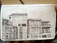 Downtown Madison (Counter_Klock) Tags: moleskine wisconsin downtown drawing sketchbook madison matc lamysafari paintingonlocation