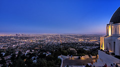 Los Angeles Basin from Griffith Observatory (nimus) Tags: california city landscape losangeles cityscape dusk landmark observatory griffithobservatory griffith meseum twilightshot 714mmf4 olympusem5