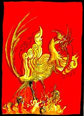 Phoenix Rising (Jim_V) Tags: phoenix monster pen ink rising myth dippen nibpen