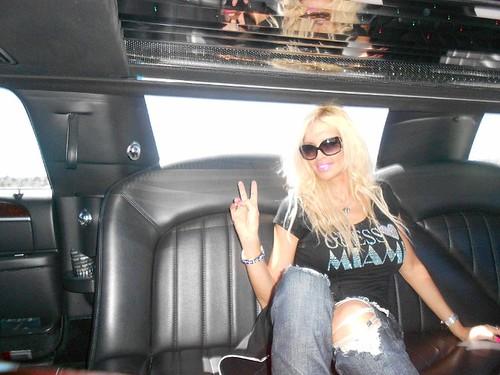 Sandrine Chelly limousine @ Santa Monica