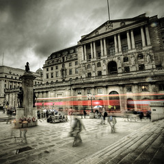 A Gloomy Day For The Bankers (violinconcertono3) Tags: london landscapes flickr unitedkingdom fineart thecity cityscapes cityoflondon fineartphotography davidhenderson london2012 bankofengland threadneedlestreet fineartphotographer londonphotographer 19sixty3 19sixty3com