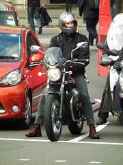 Moto Guzzi (kenjonbro) Tags: uk black london westminster trafalgarsquare front motoguzzi charingcross sw1 kenjonbro fujihs10