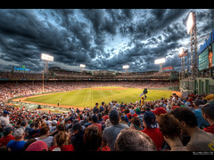 fantastic fenway | boston (elmofoto) Tags: sky game rivalry boston clouds nikon baseball fav50 redsox dramatic americanflag historic diamond cocacola fans fenwaypark yankees hdr highdynamicrange greenmonster ballpark pf 500v beantown mlb d800 passtime cumberlandfarms fav25 tonemapping nikond800 elmofoto lorenzomontezemolo forcurators wwwelmofotocom