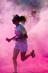 Color Me Rad-5k Color Run - Color station (alohadave) Tags: sky people unitedstates massachusetts places event northamerica clearsky braintree southshoreplaza smcpda55300mmf458ed pentaxk5 colormerad5kcolorrun