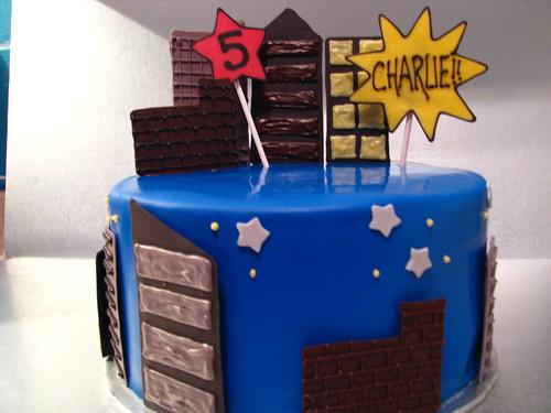 batman birthday cake (batman candle added later)
