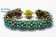 Raw Ribs Bracelet (BeeJang - Piratchada) Tags: blue green bronze beads raw czech handmade jewelry bracelet bead miyuki beaded beadwork beadweaving dropbeads czechfirepolished