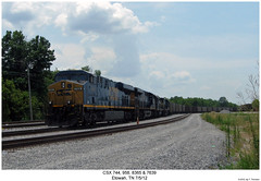 CSX 744, 958, 8365 & 7639 (Robert W. Thomson) Tags: railroad train diesel tennessee railway trains locomotive trainengine ge dash8 csx etowah emd sd402 sd40 gevo c408 es44ac es44 evolutionseries sixaxle es44ah