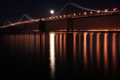 Bay Bridge Moonrise (mcmillend) Tags: sanfrancisco california longexposure moon night baybridge december2011