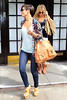 Frankie Sandford and Mollie King Celebrities leaving their hotel after attending the wedding of Rochelle Wiseman and Marvin Humes which took place on Friday (July 27) at Blenheim Palace England