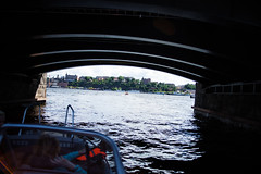 Going under (Hkan Dahlstrm) Tags: bridge sea se boat sweden stock