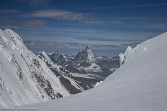 Dent d'Hérens and the Matterhorn (Unliving Sava) Tags: summer italy mountains alps hiking alpine zomer zermatt monterosa alpen 2012 italië valledaosta explorado