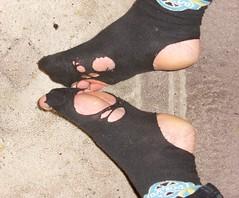 Thanks mom (lasseman92) Tags: broken socks out big nice sock toe hole boots rags bad holes holy terrible worn torn heel cry trasig hobo hollow ragged tattered wornout holey nya inherited nästan hål tå strumpa straff häl luffar strumphål utslitna